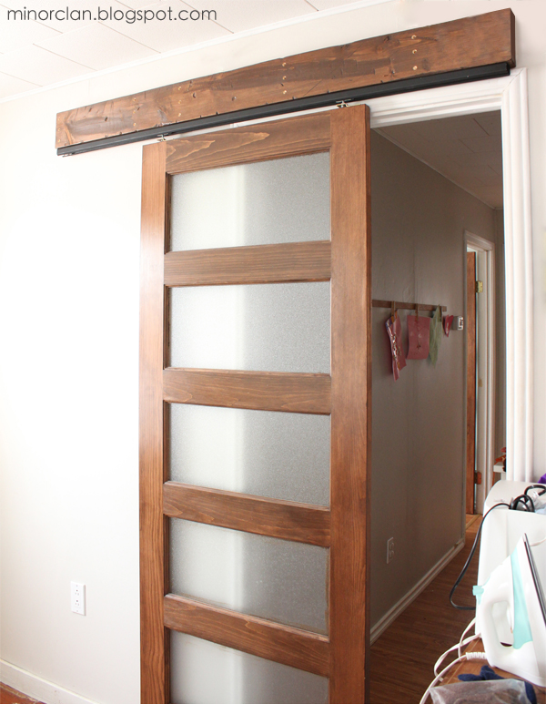 inexpensive DIY sliding door